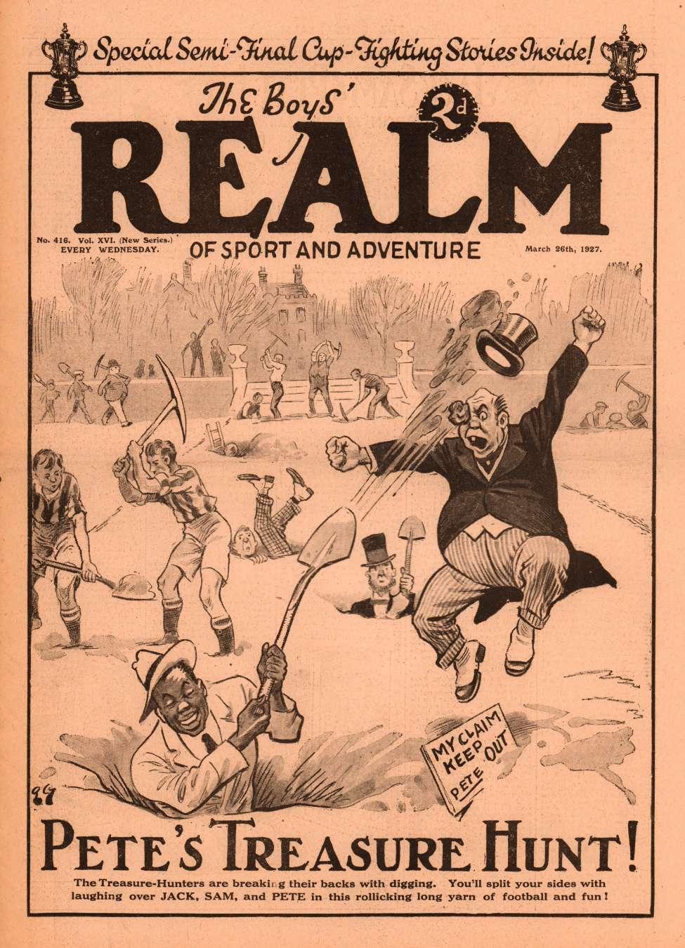 Comic Book Cover For The Boys' Realm v2 416 - Pete's Treasure Hunt!