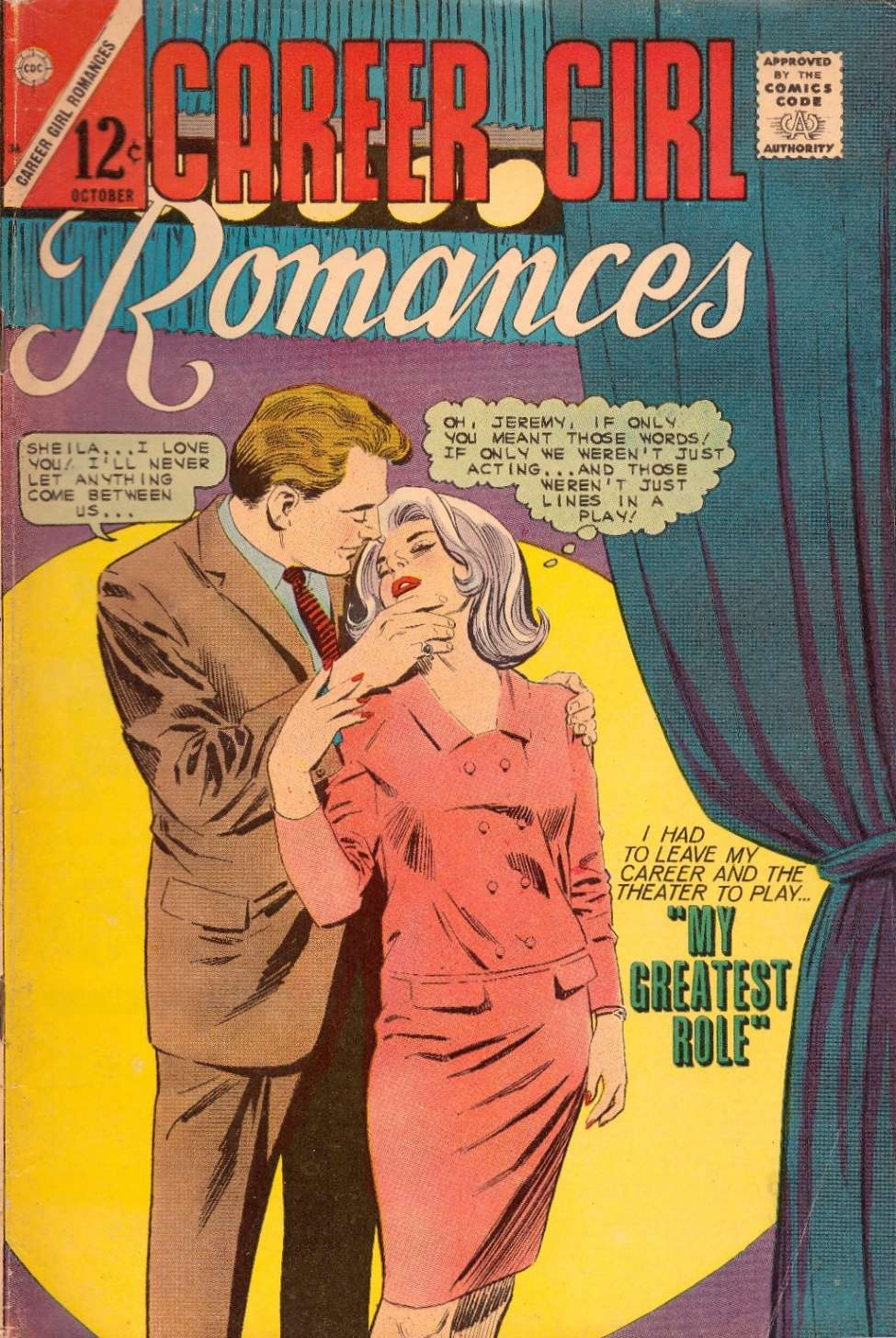Comic Book Cover For Career Girl Romances #36