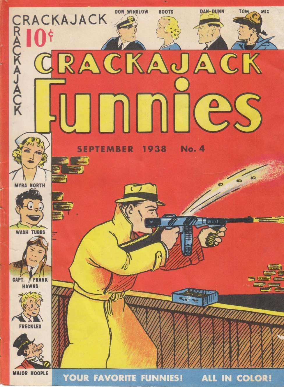 Comic Book Cover For Crackajack Funnies #4 - Version 1