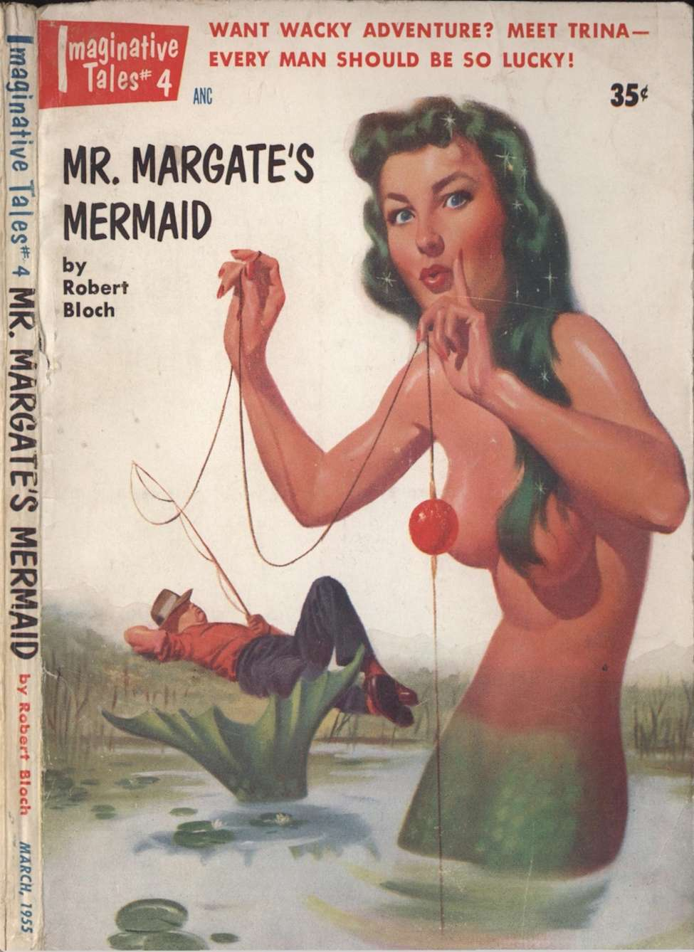 Comic Book Cover For Imaginative Tales v01 04 - Mr. Margate's Mermaid - Robert Bloch