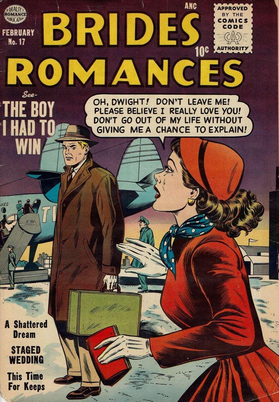 Comic Book Cover For Brides Romances #17