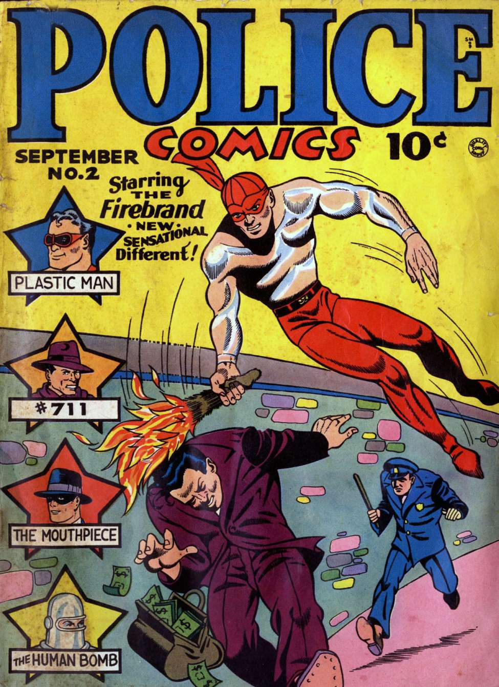 Comic Book Cover For Police Comics #2