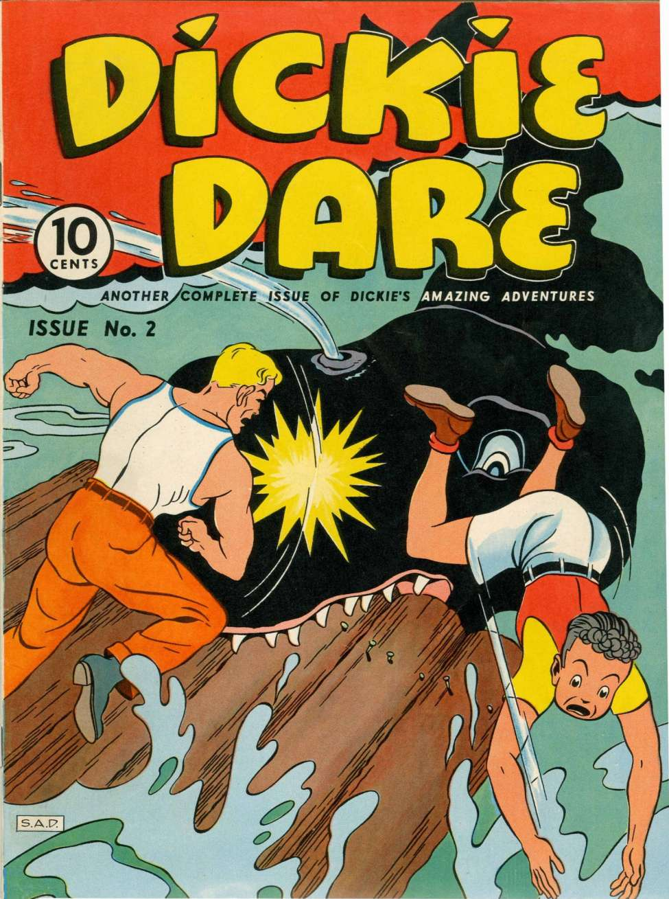 Comic Book Cover For Dickie Dare #2