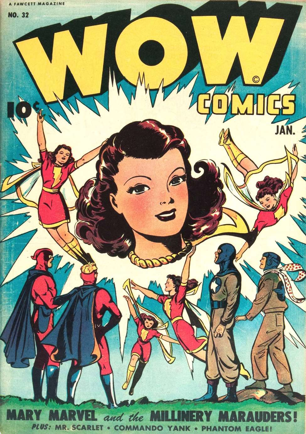 Comic Book Cover For Wow Comics #32