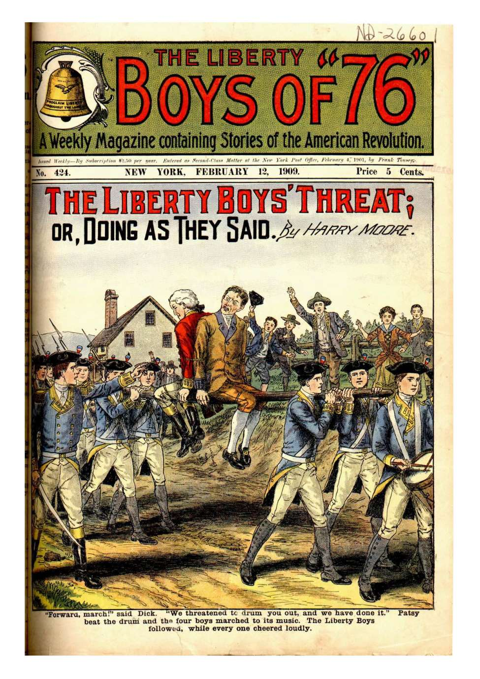 Comic Book Cover For Liberty Boys Of 76 424