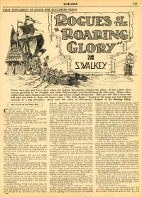 Large Thumbnail For Chums 1930-31 Serial - Rogues of the Roaring Glory by S. Walkey