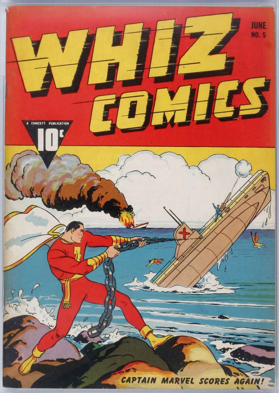 Comic Book Cover For Whiz Comics #5