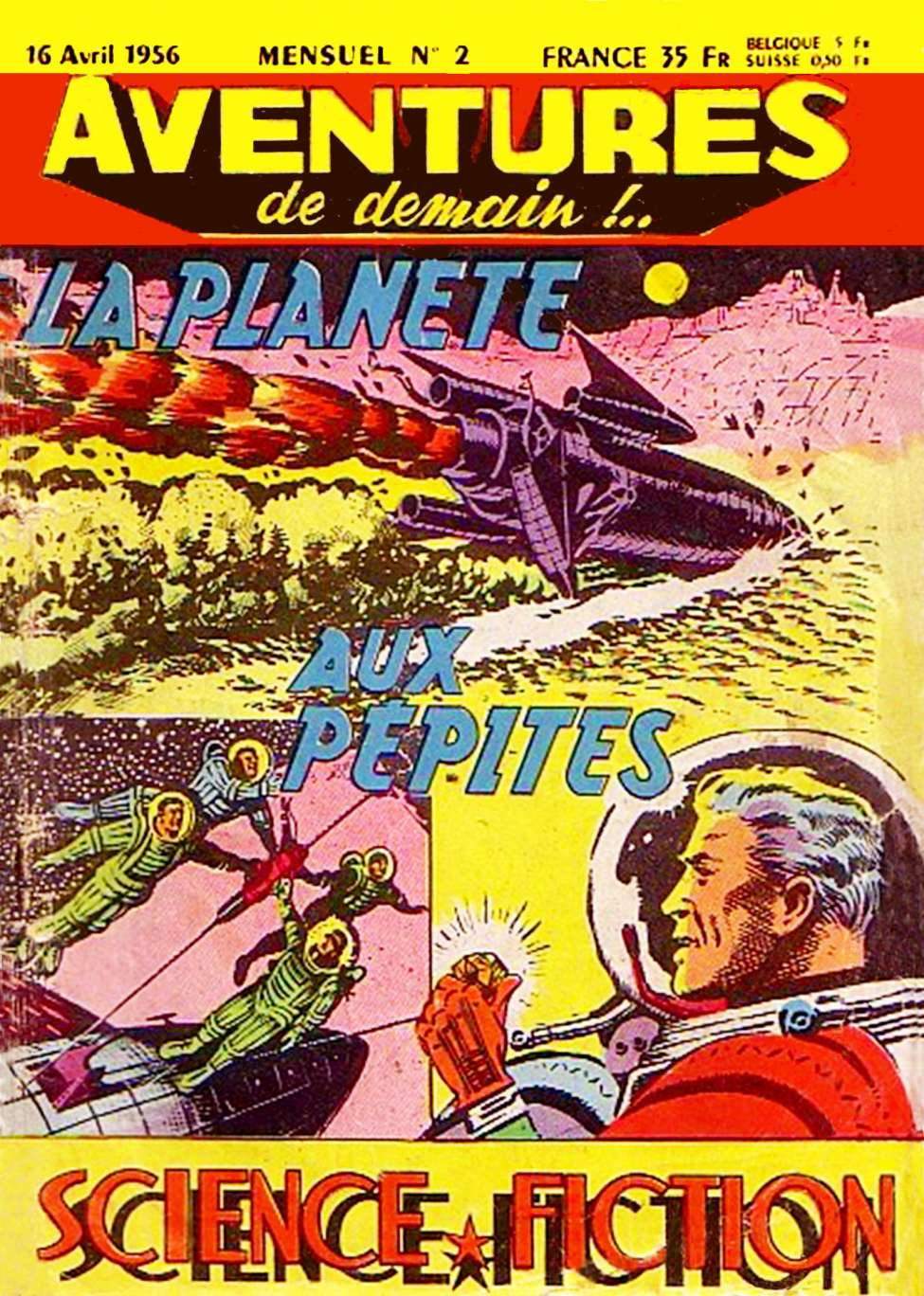 Comic Book Cover For Aventures de Demain 02 - La planète aux pépites (alt)