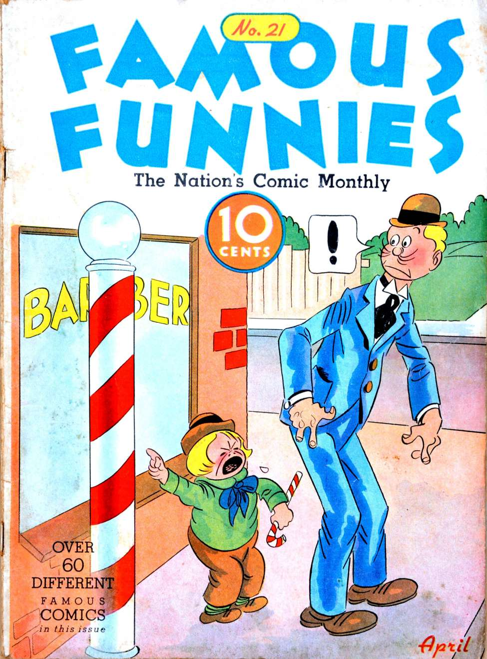 Comic Book Cover For Famous Funnies #21