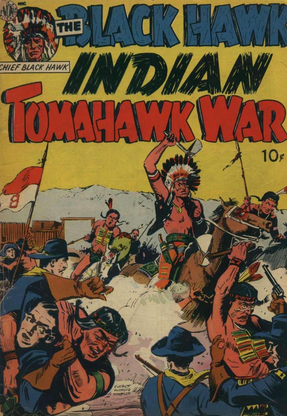 Comic Book Cover For Black Hawk -- Tomahawk Indian War [nn]