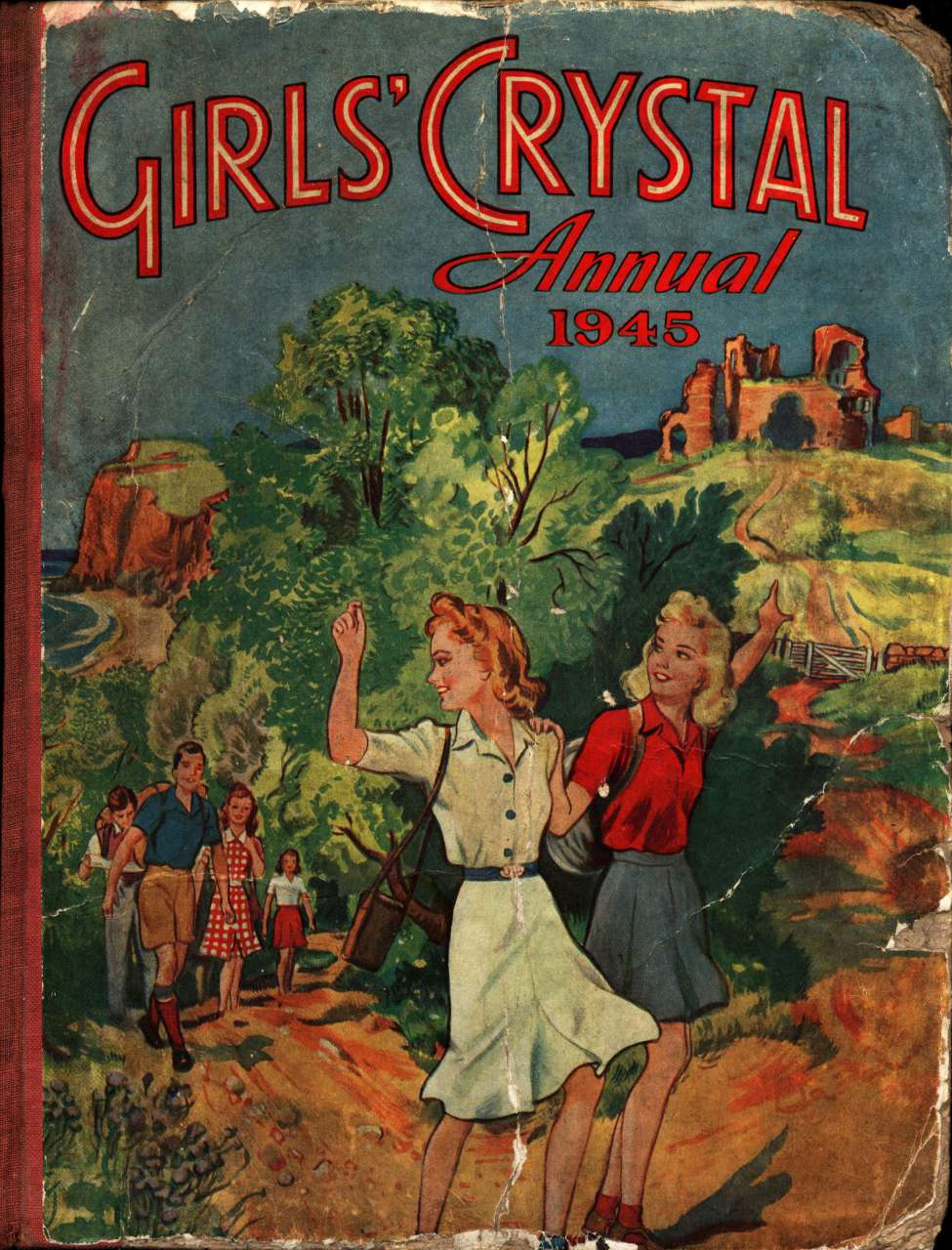 Comic Book Cover For Girls' Crystal Annual 1945