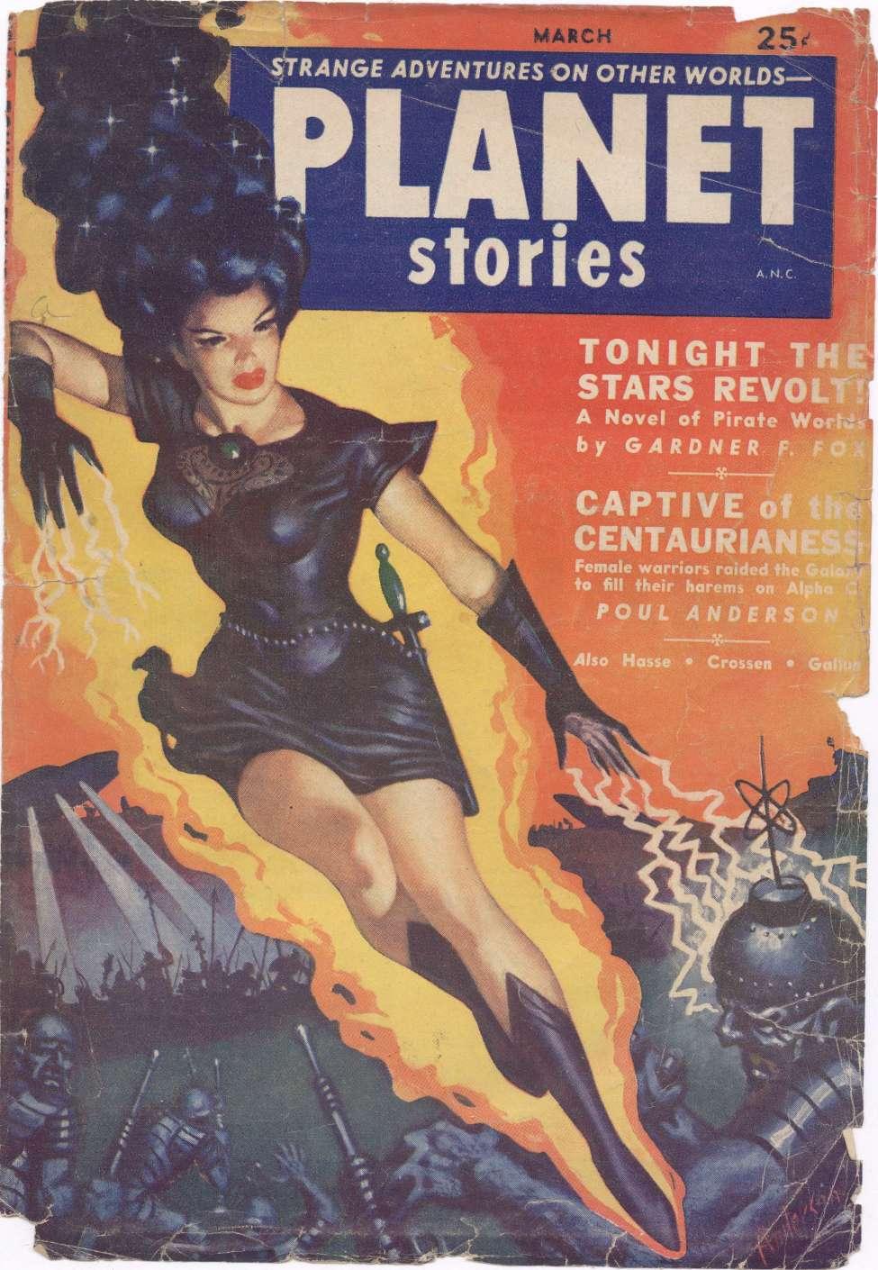 Comic Book Cover For Planet Stories v05 05 - Tonight the Stars Revolt! - Gardner F. Fox