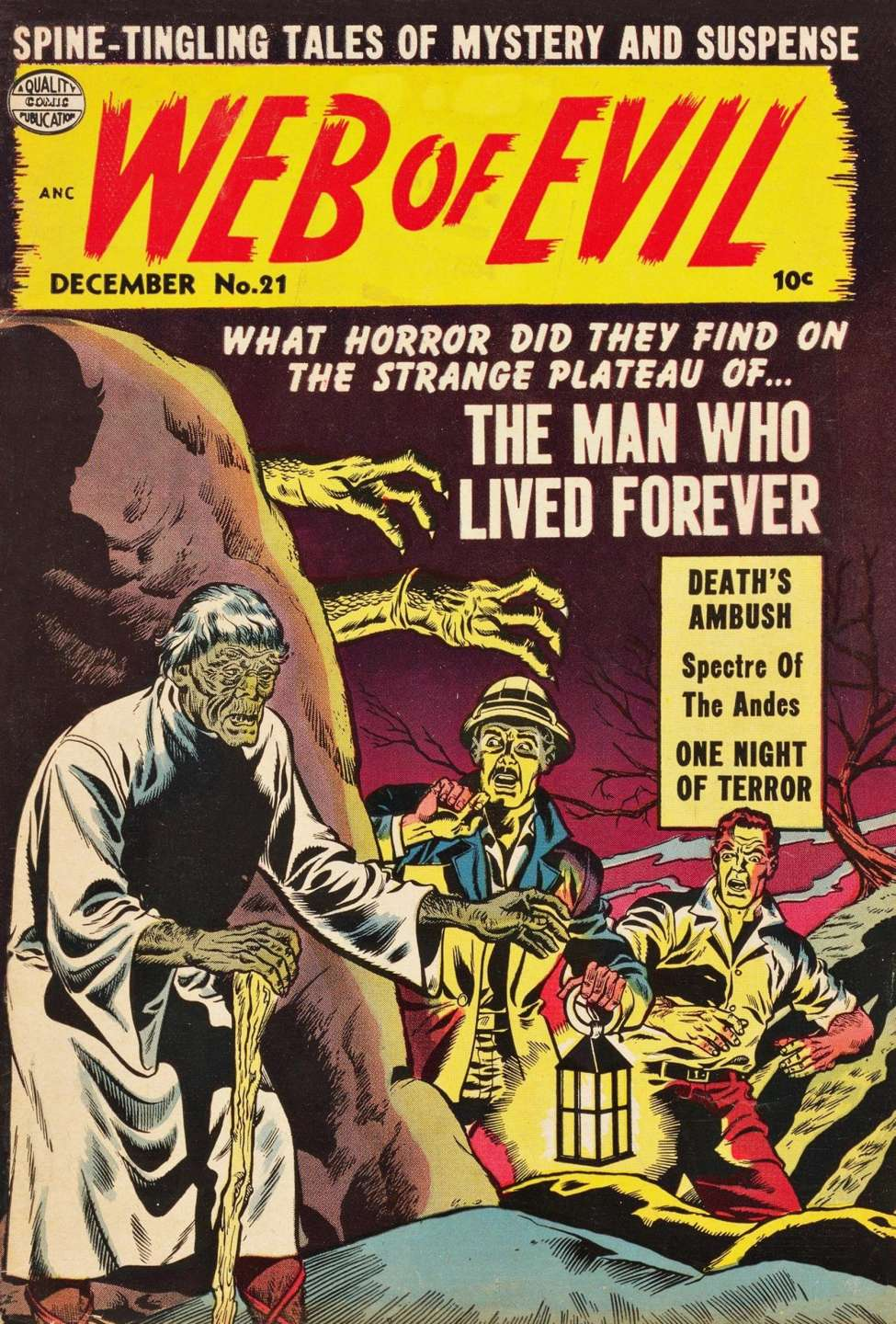 Comic Book Cover For Web of Evil #21