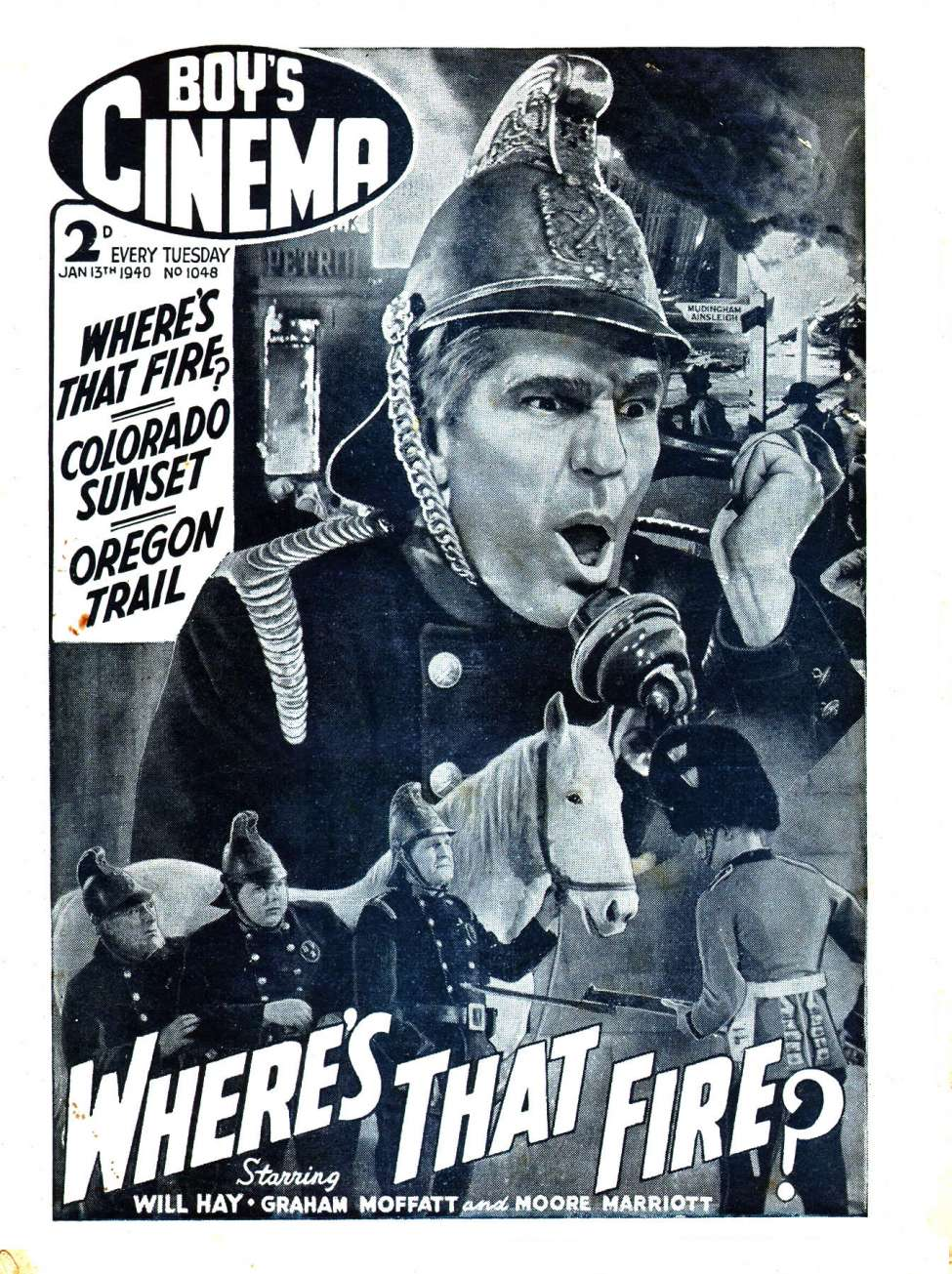 Comic Book Cover For Boy's Cinema 1048 - Where's That Fire? starring Will Hay