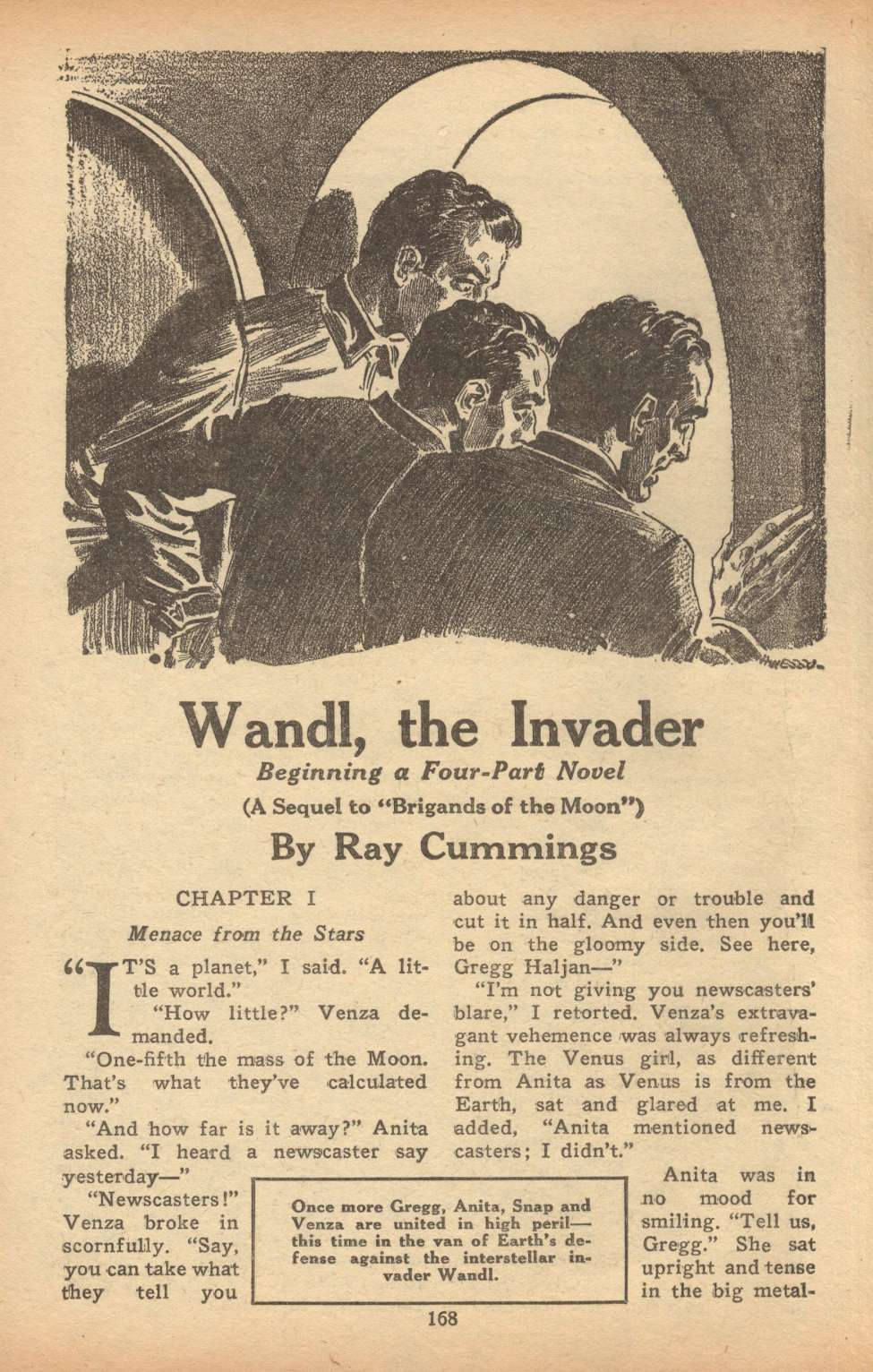 Comic Book Cover For Astounding Serial - Wandl, the Invader - R Cummings