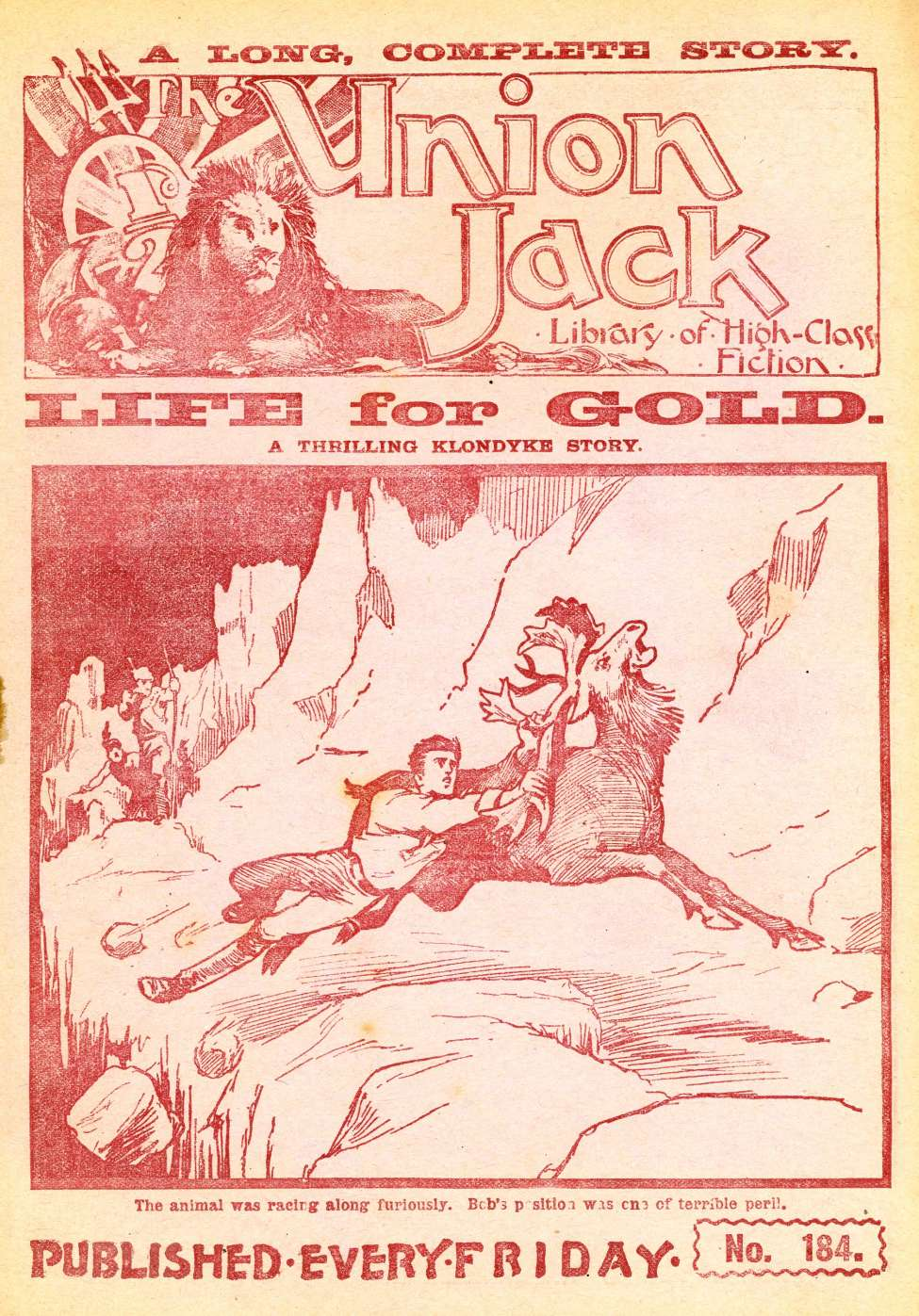 Comic Book Cover For The Union Jack 184 - Life For Gold