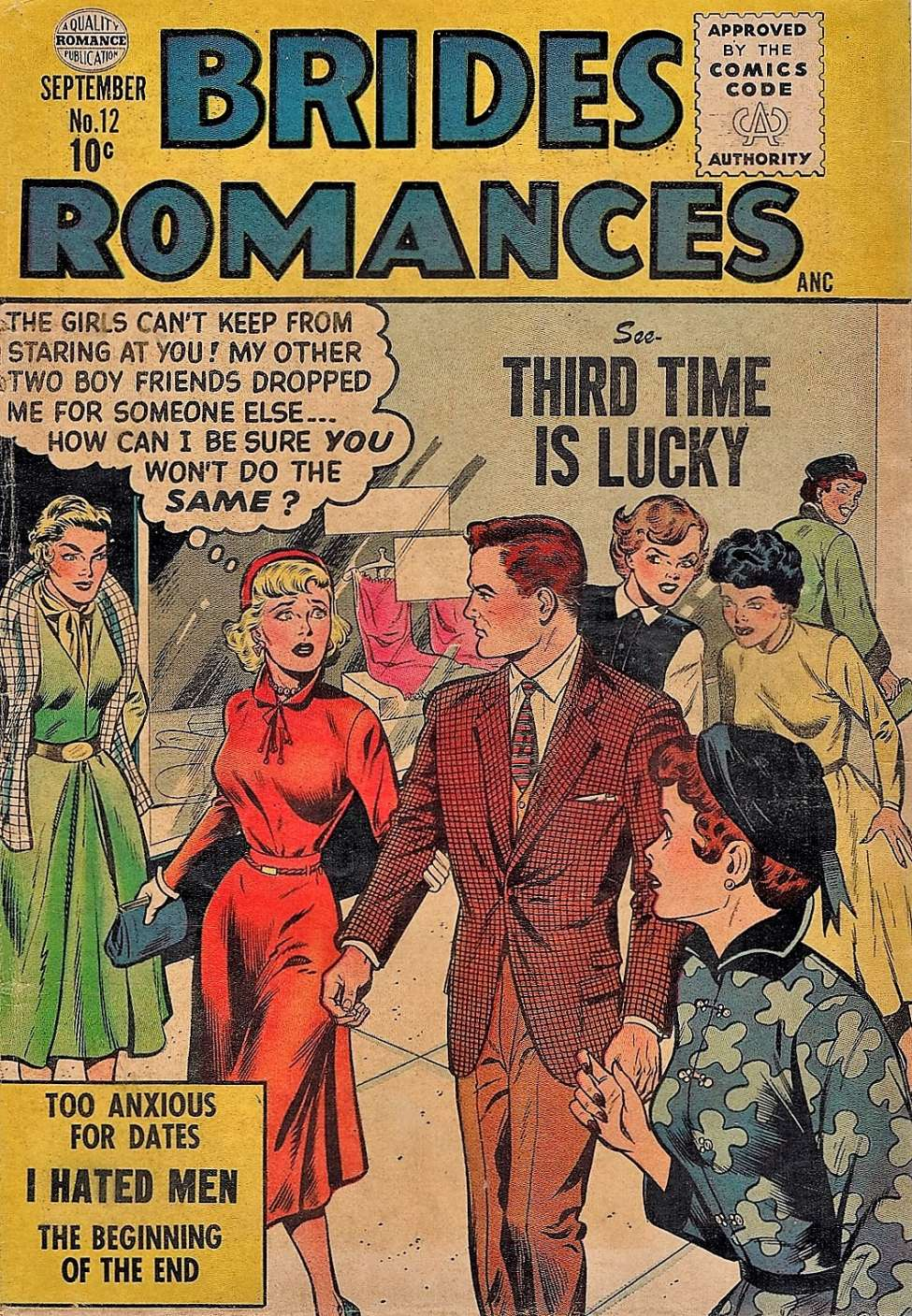 Comic Book Cover For Brides Romances #12