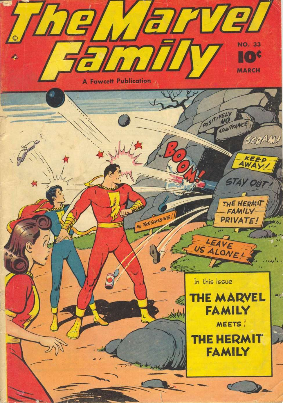 Comic Book Cover For The Marvel Family #33