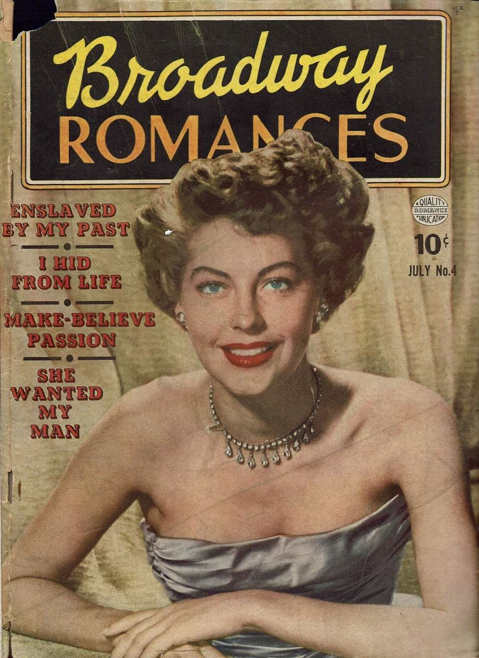 Comic Book Cover For Broadway Romances #4