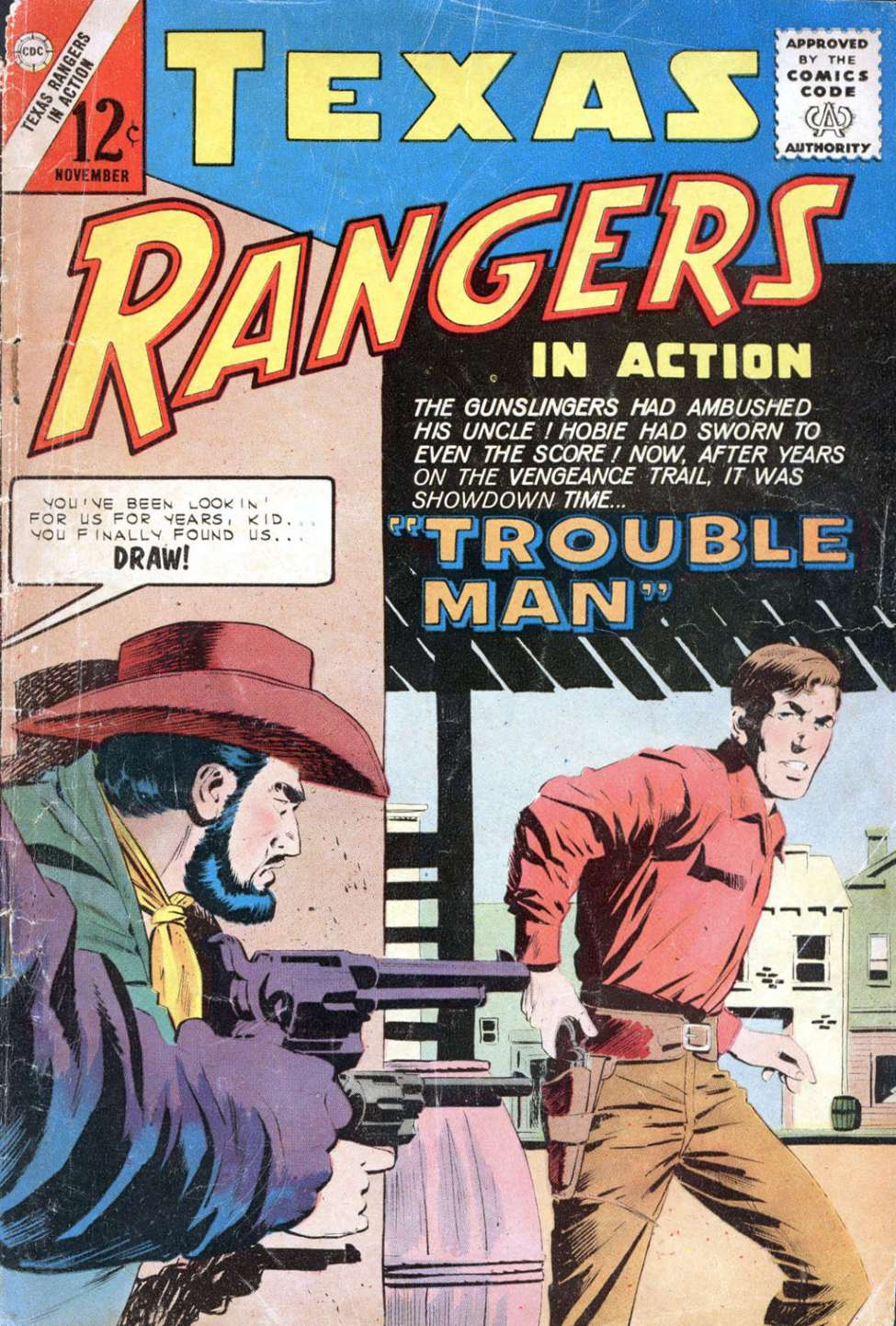 Comic Book Cover For Texas Rangers in Action #42 - Version 1