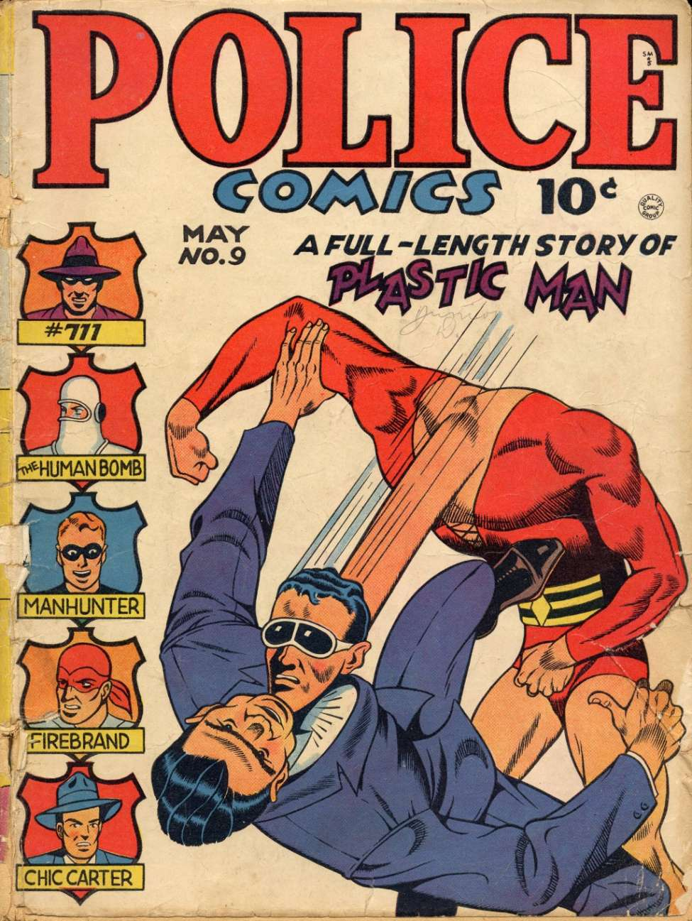 Comic Book Cover For Police Comics #9