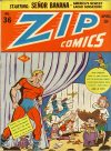Cover For Zip Comics 36