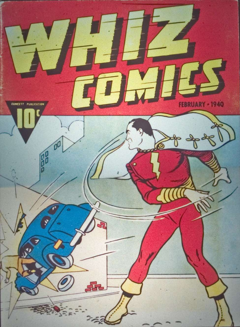 Comic Book Cover For Whiz Comics #2