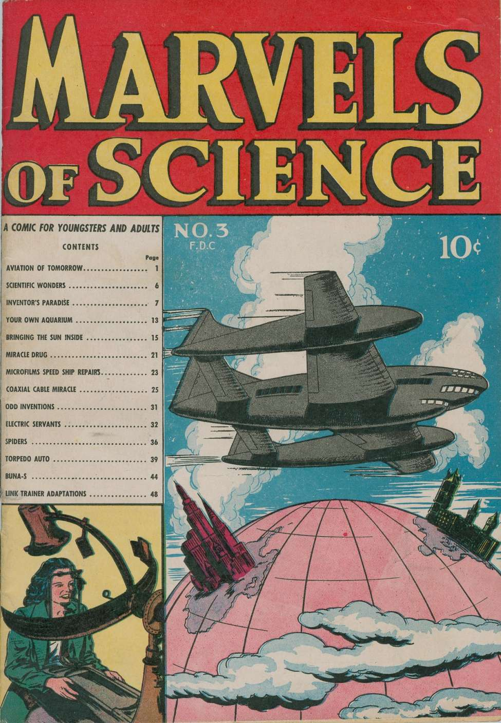 Comic Book Cover For Marvels of Science #3