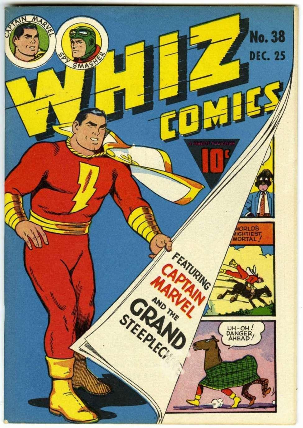 Comic Book Cover For Capt. Marvel Whiz Archives Vol 09
