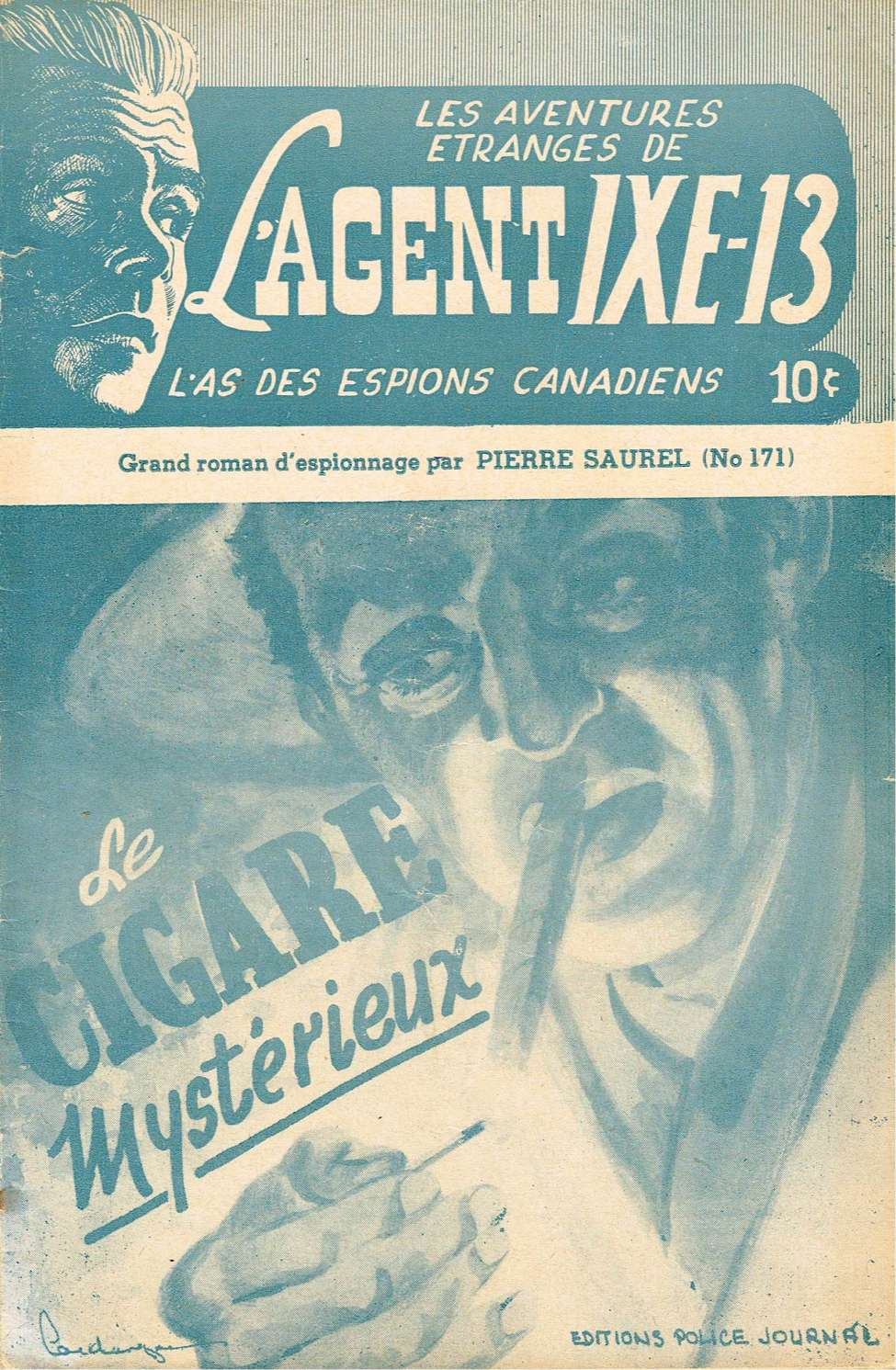 Comic Book Cover For L'Agent IXE-13 v2 171 - Le cigare mystérieux