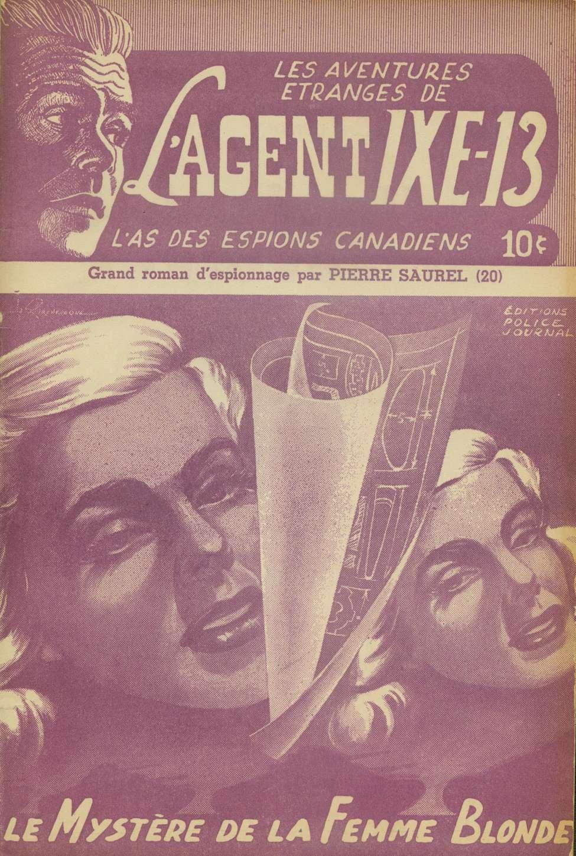 Comic Book Cover For L'Agent IXE-13 v2 020 - Le mystère de la femme blonde