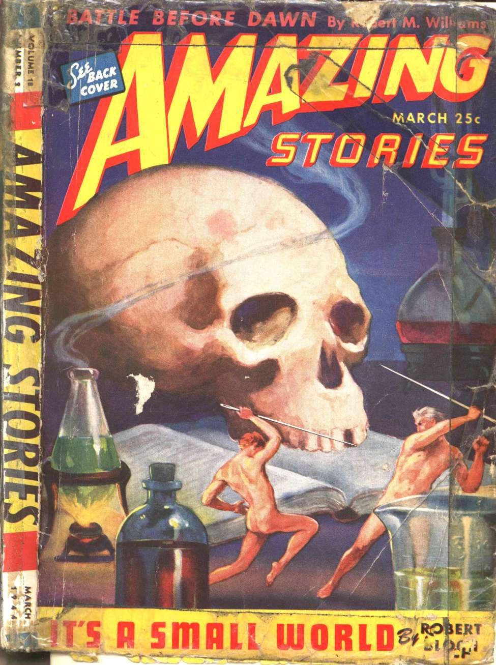 Comic Book Cover For Amazing Stories v18 02 - It's a Small World - Robert Bloch