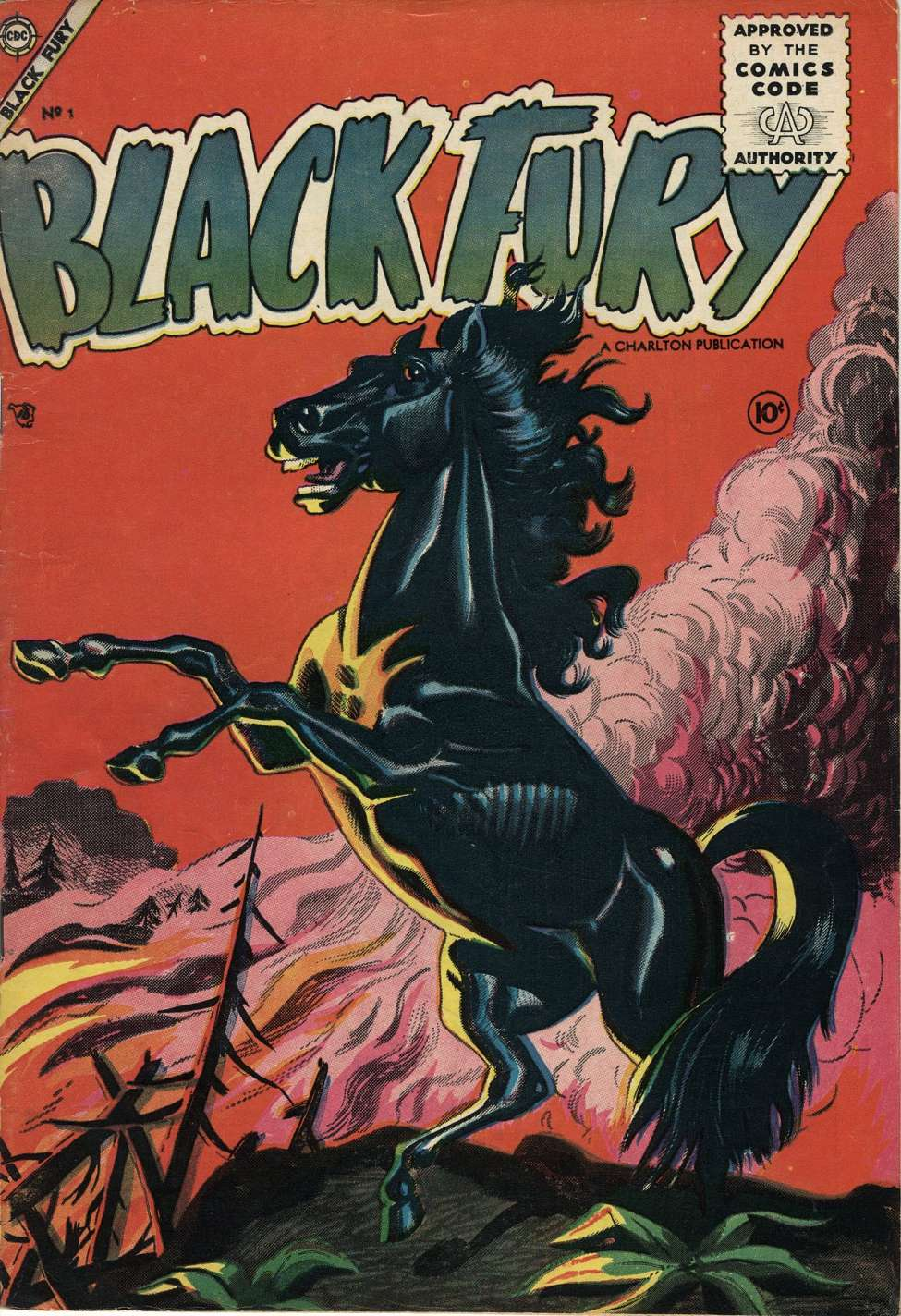 Comic Book Cover For Black Fury #1