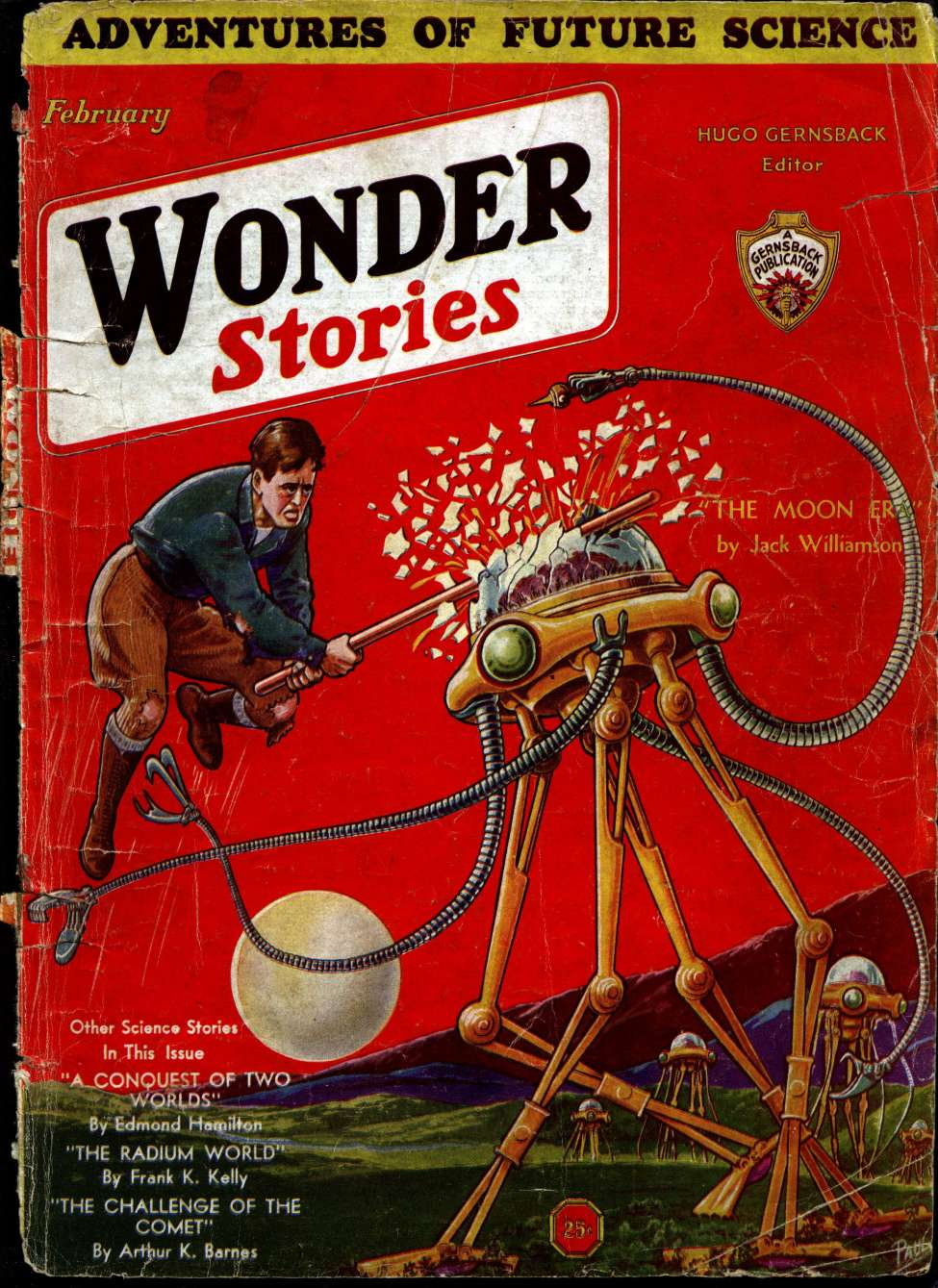 Comic Book Cover For Wonder Stories v3 09 - The Moon Era - Jack Williamson
