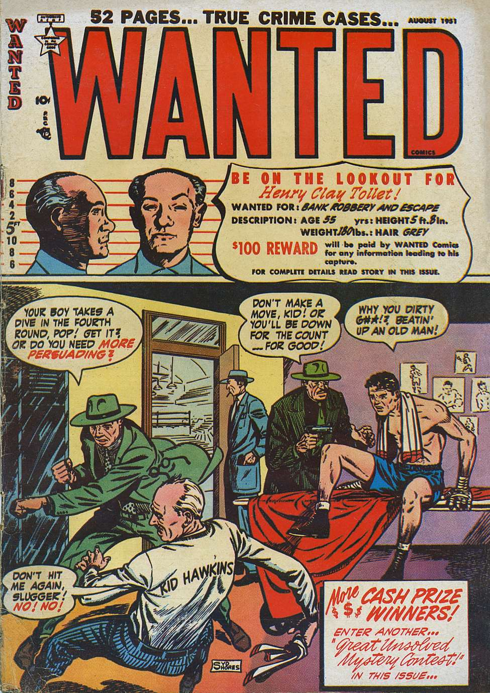Comic Book Cover For Wanted Comics #40