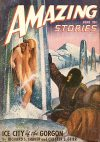 Cover For Amazing Stories v22 6 Ice City of the Gorgon Richard S. Shaver