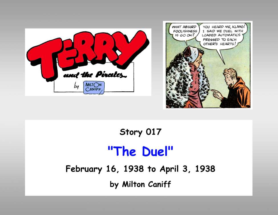 Comic Book Cover For Terry and the Pirates 17 C a) The Duel
