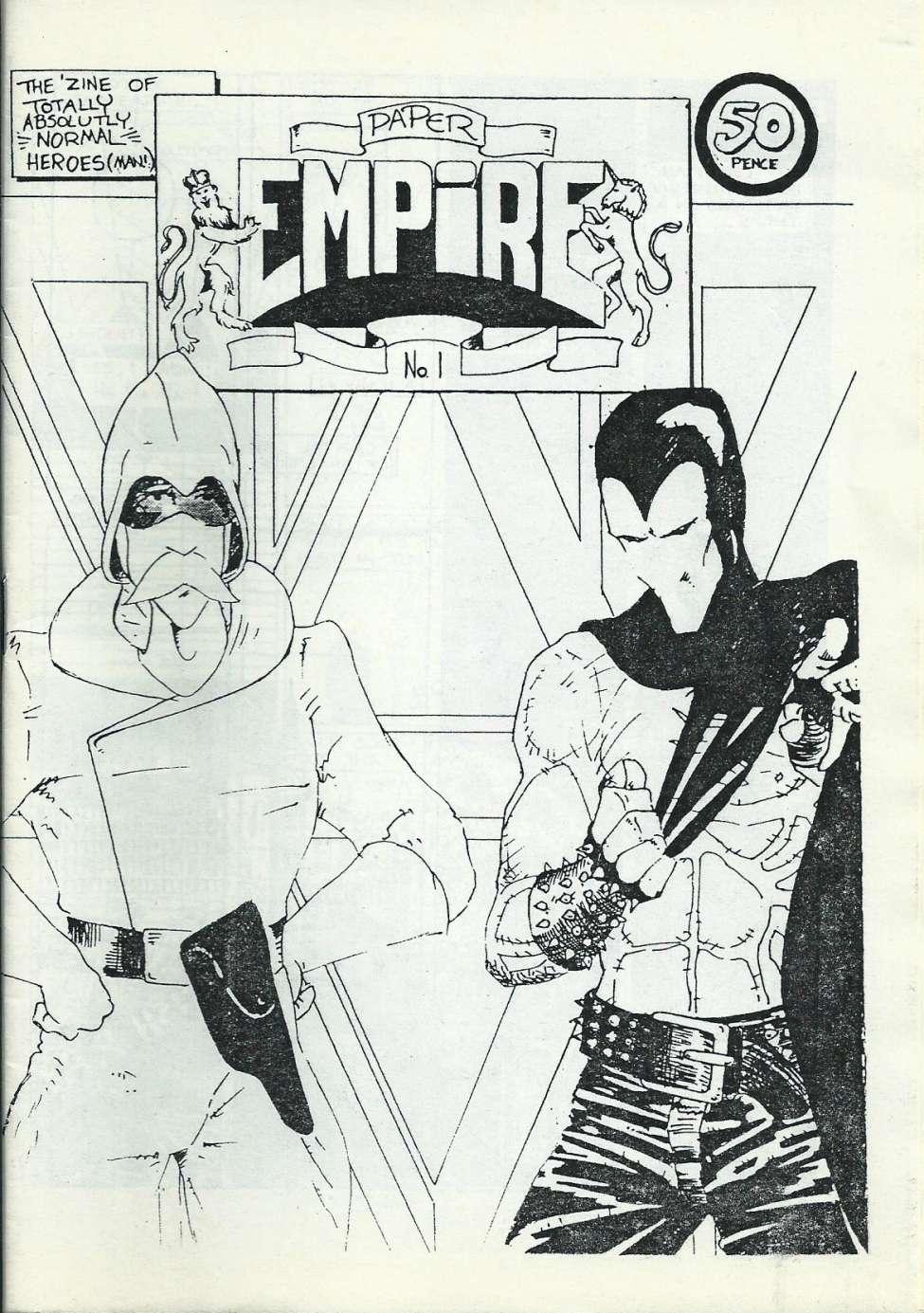 Comic Book Cover For Paper Empire 01
