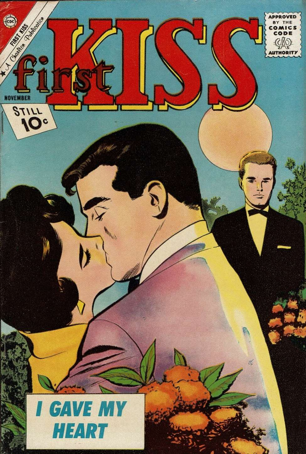 Comic Book Cover For First Kiss #23