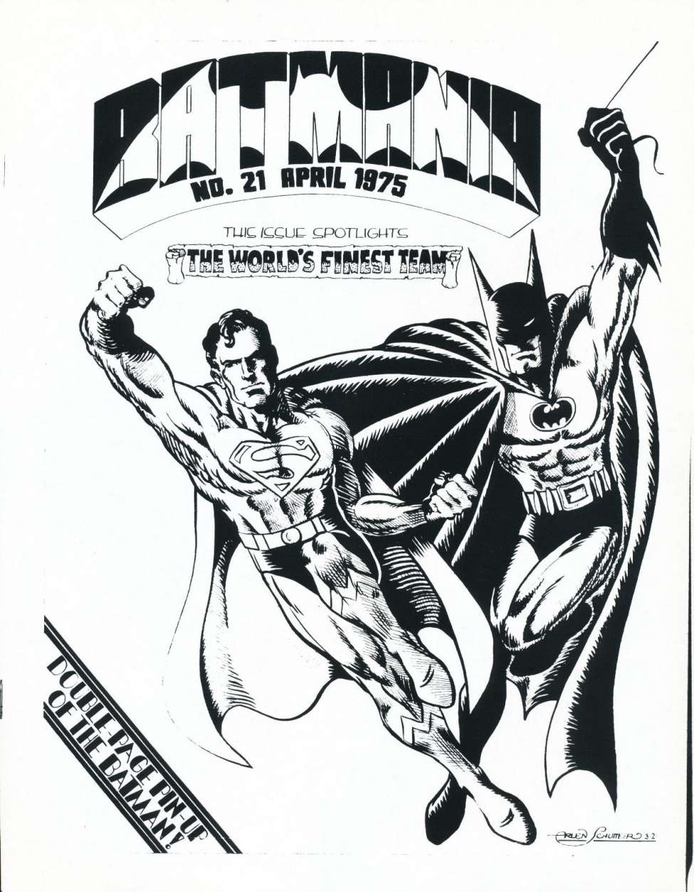 Comic Book Cover For Batmania 21