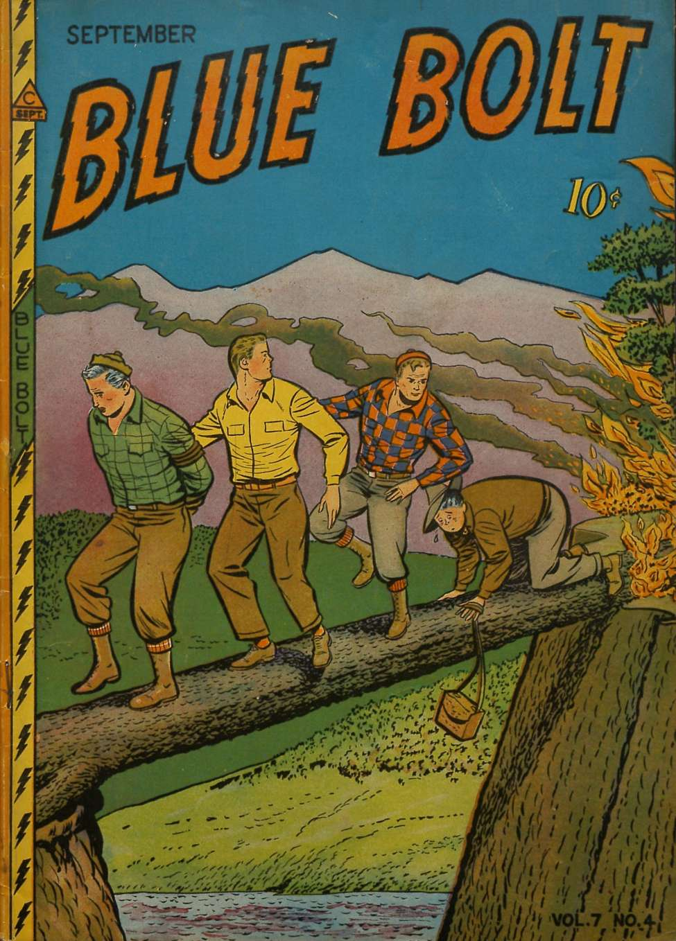 Comic Book Cover For Blue Bolt v7 4 [70]
