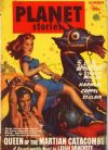 Cover For Planet Stories v4 3 Queen of the Martian Catacombs Leigh Brackett