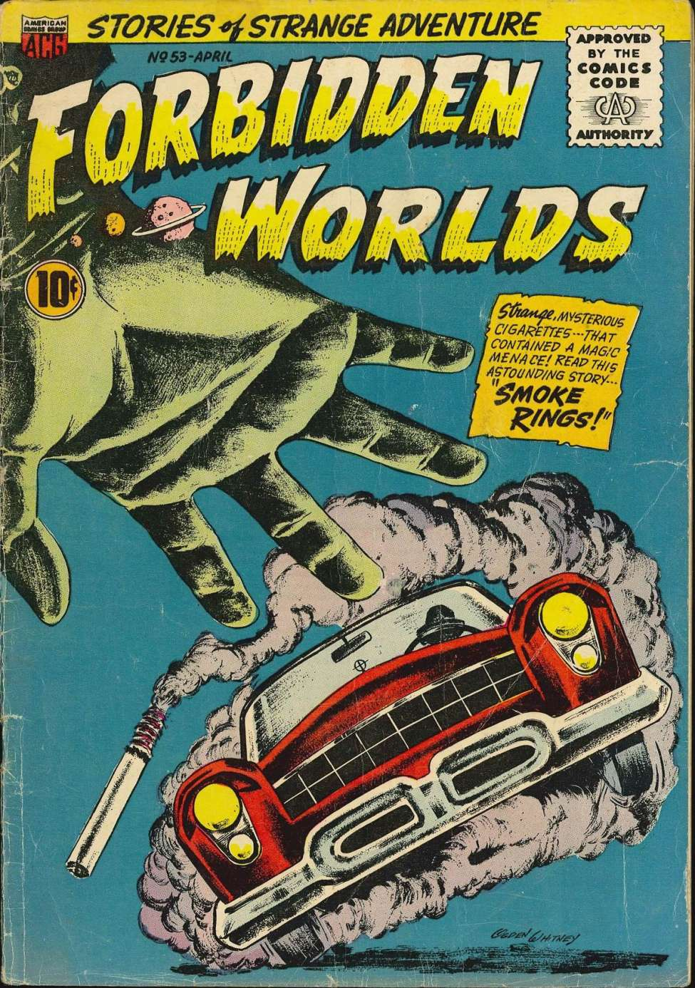 Comic Book Cover For Forbidden Worlds #53