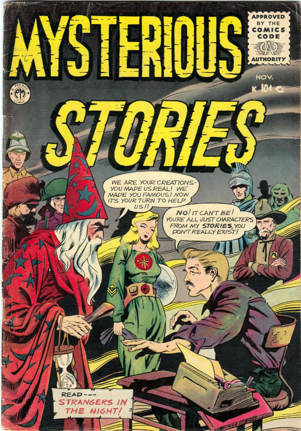 Comic Book Cover For Mysterious Stories #6