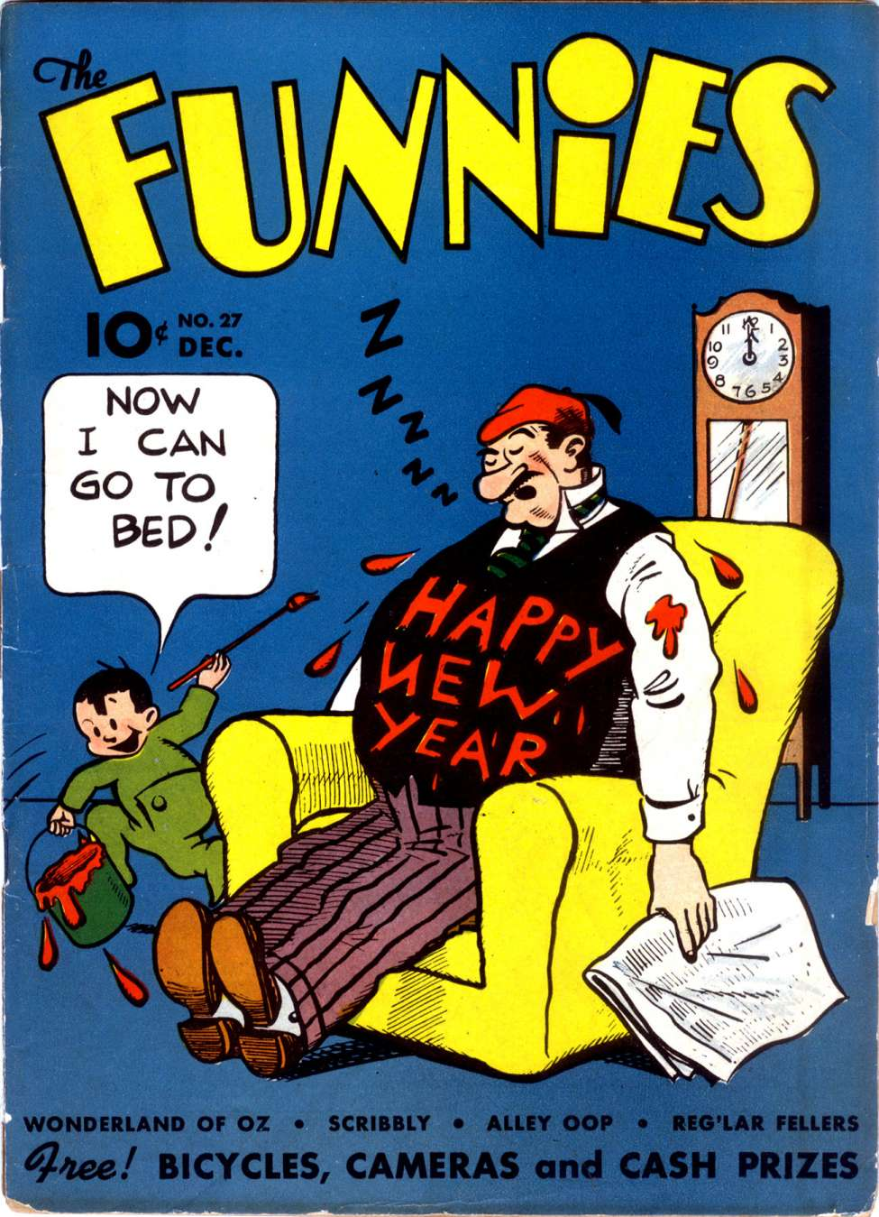 Comic Book Cover For The Funnies #27