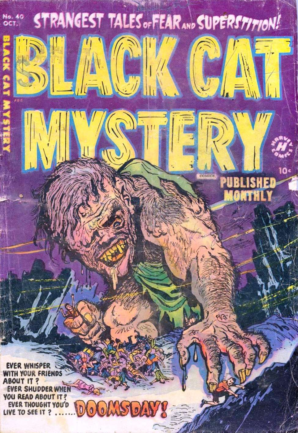 Comic Book Cover For Black Cat #40