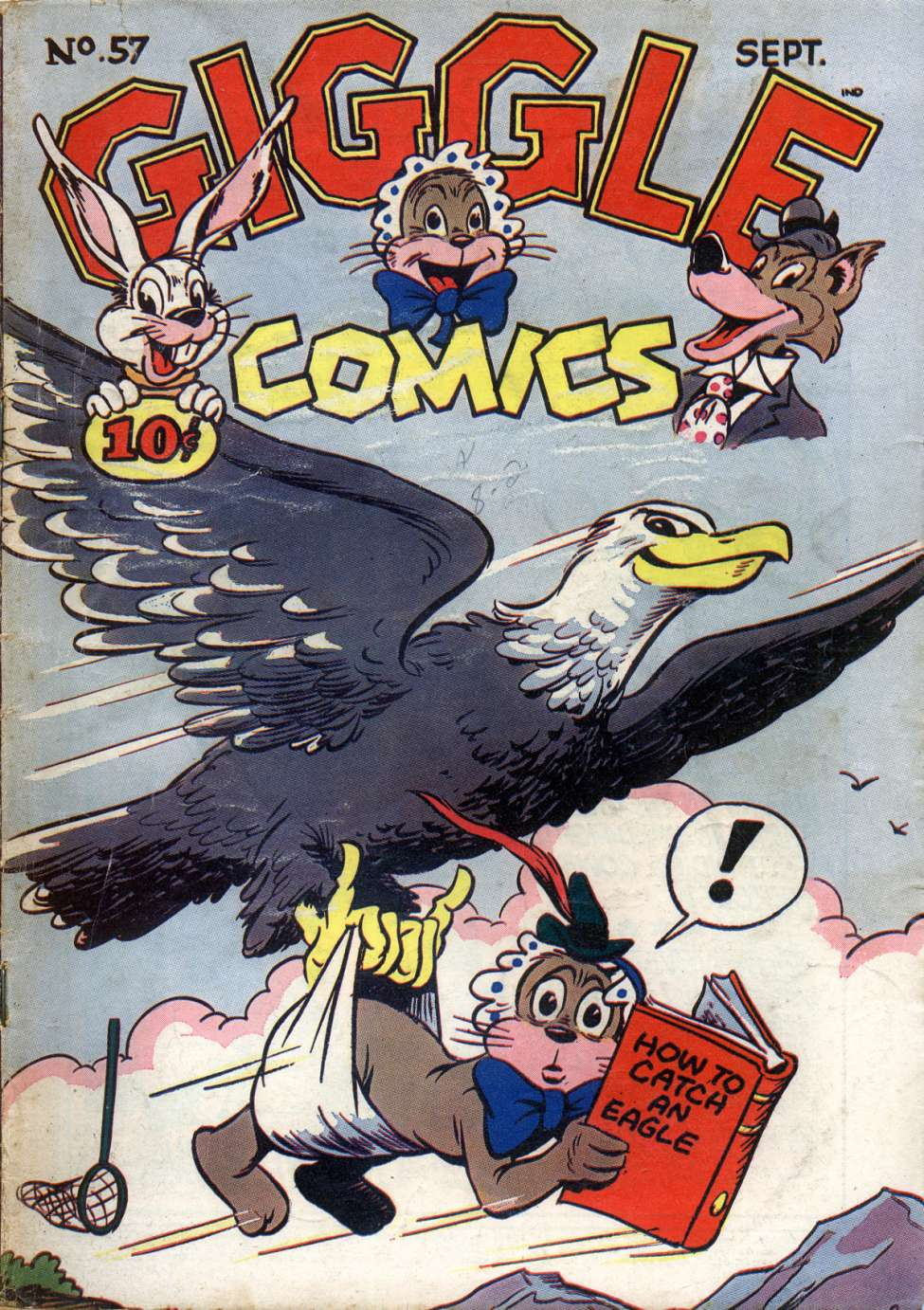 Comic Book Cover For Giggle Comics #57
