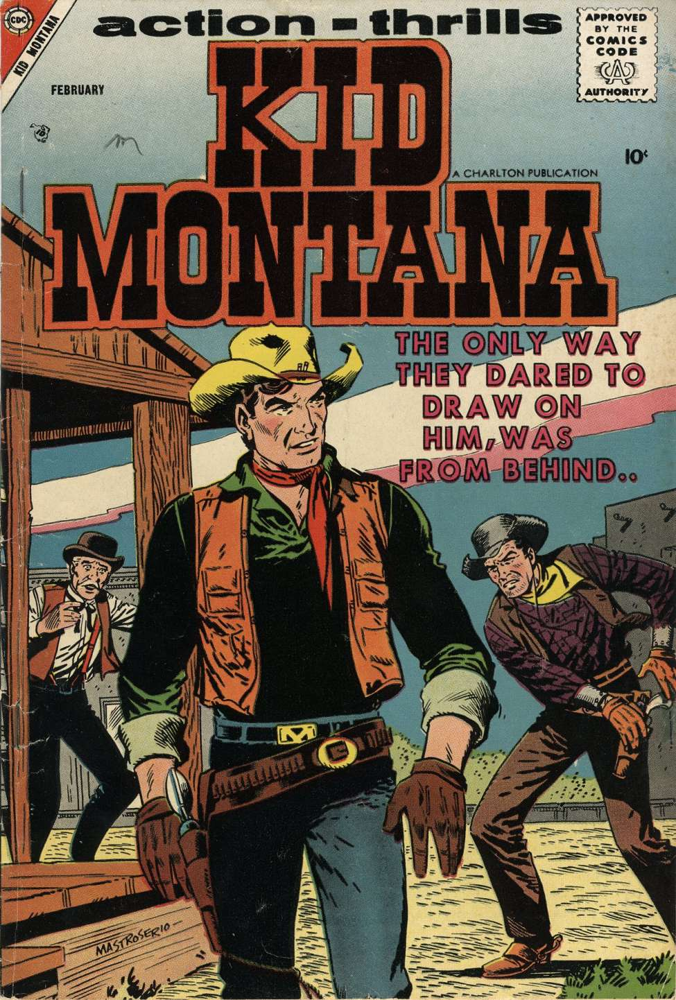 Comic Book Cover For Kid Montana #11