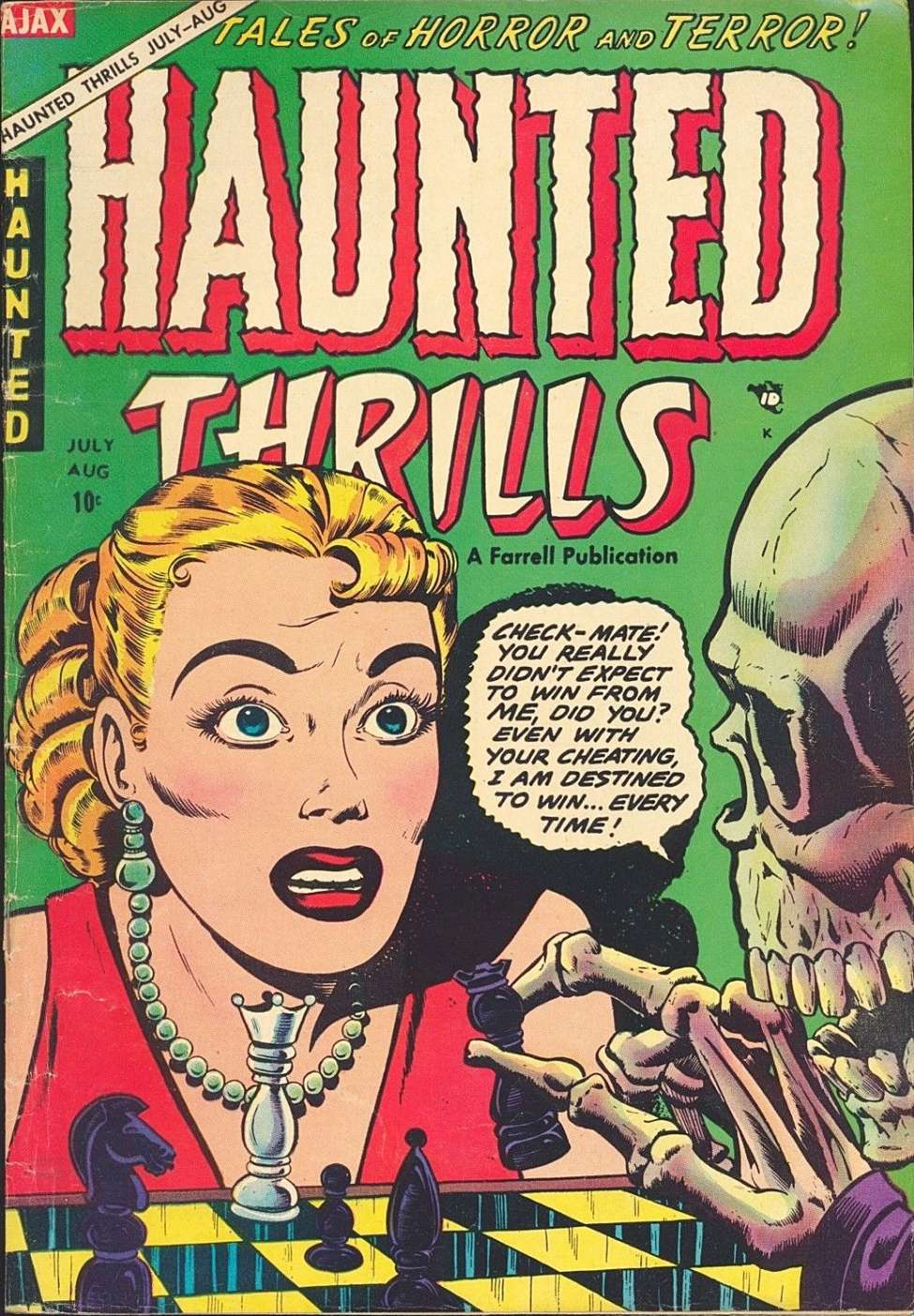 Comic Book Cover For Haunted Thrills #16