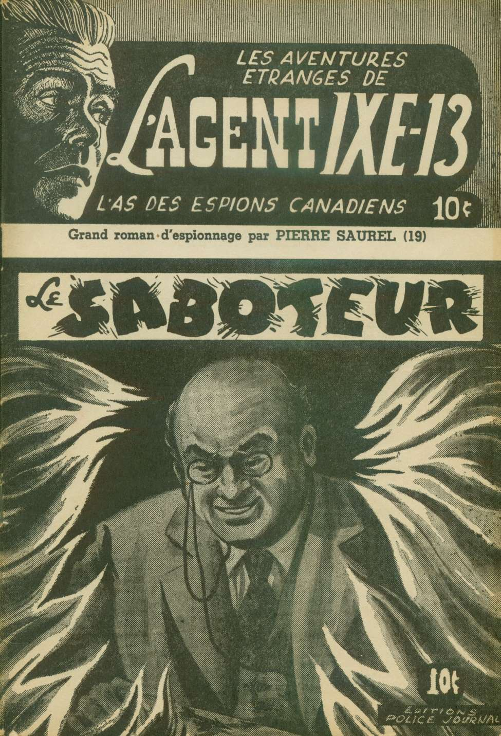 Comic Book Cover For L'Agent IXE-13 v2 019 - Le saboteur